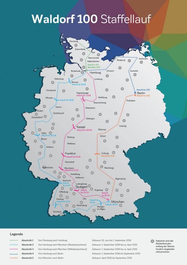 Staffellauf Karte